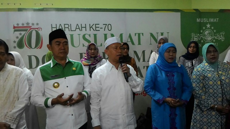 Ribuan Anak Yatim Mendapat Motivasi didalam Doa Bersama Muslimat NU