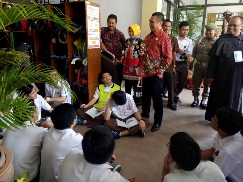 Walikota dan Kadiknas Hujani Pujian Kepada SMAK St Albertus Dempo
