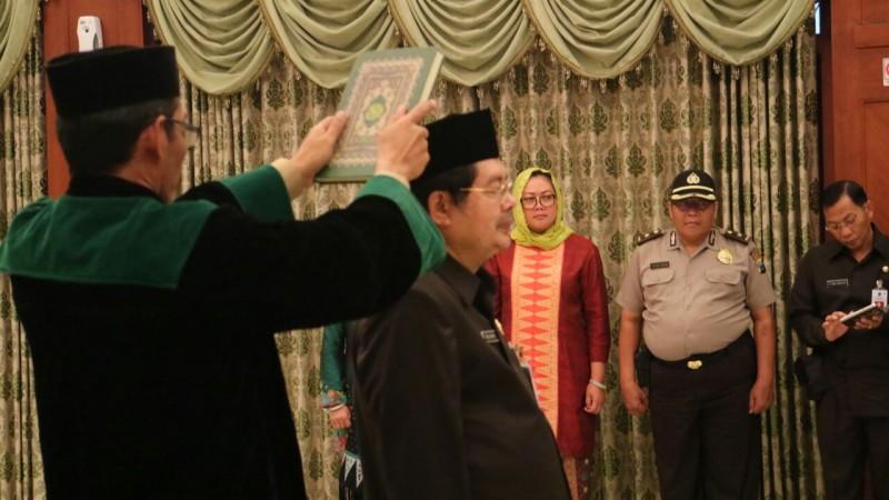 Abah Anton Lantik Idrus Sebagai Sekretaris Daerah Kota Malang