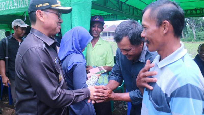 Abah Anton Imbau Petani Pertahankan Lahan Pertanian