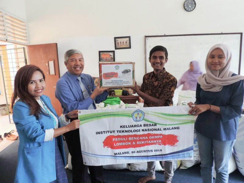 ITN Malang Turunkan Volunteer Serahkan Logistik dan Sarana Penyedia Air Bersih Untuk Korban Gempa Lombok