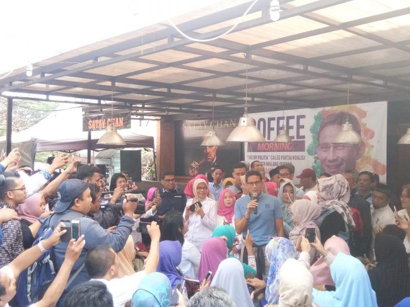 Sandiaga : Pak Prabowo Berpesan Warga Negara Indonesia Jangan Terpecah Akibat Pilpres