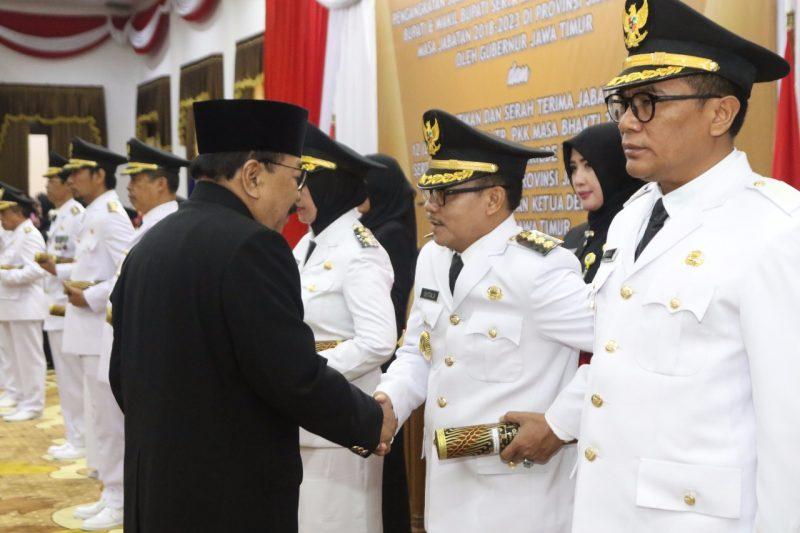Sutiaji – Sofyan Edi Dilantik, Banyak Titipan Pesan Dari Gubernur Jawa Timur