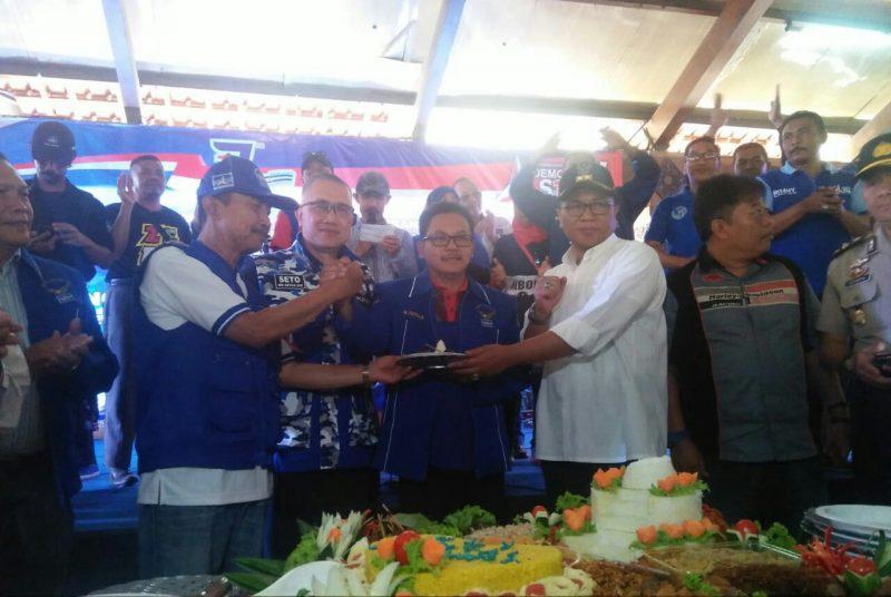 Sutiaji Hadiri Perayaan Ulang Tahun Demokrat Ke 17 Sebagai Anggota Partai, Dukung Program Pro Rakyat