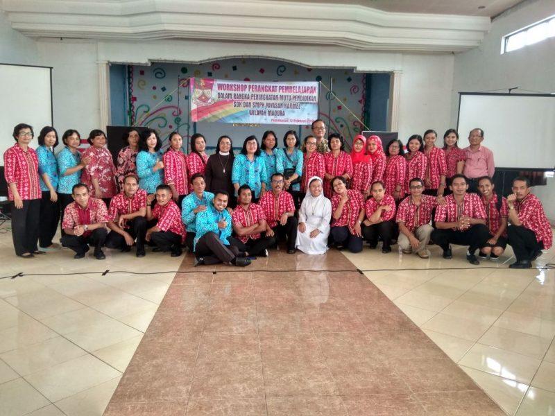 Workshop Perangkat Pembelajaran Yayasan Karmel Bagi Anggotanya dalam meningkatkan Mutu Pendidikan