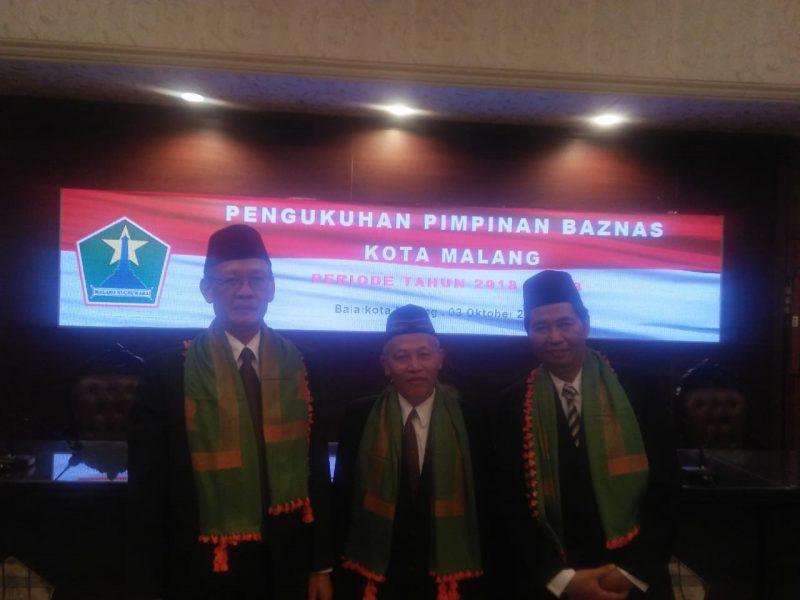 Pengukuhan Pimpinan BAZNAS Kota Malang, Sutiaji Berharap Program Kerja Pengurus Baru Tidak Monoton