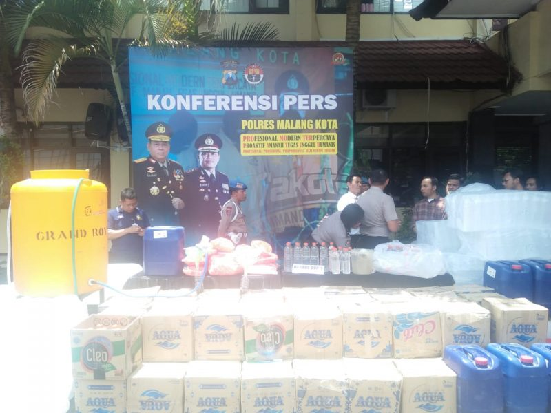 Ratusan Botol Miras Diamankan Polres Malang Kota