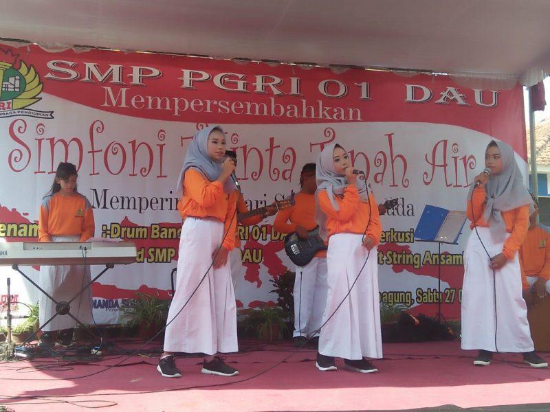 SMP PGRI 01 Dau Peringati Sumpah Pemuda Dengan Tajuk Simfoni Cinta Tanah Air