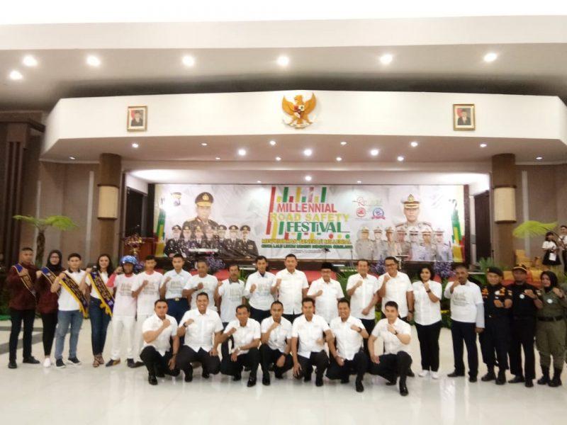 Kapolres Malang dan Walikota Malang Ajak Generasi Millenial Tertib Berlalu lintas