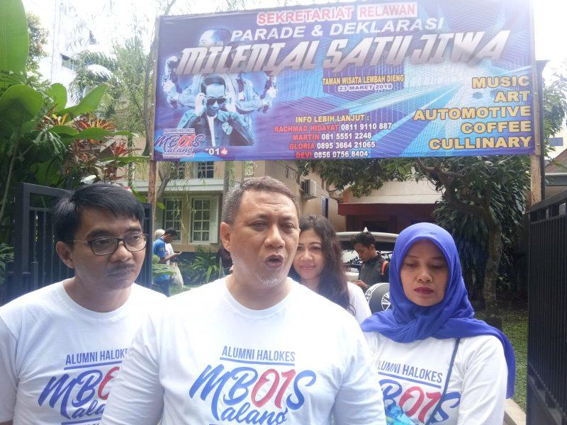 Jokowi Naik Motor Modif Hadiri Parade Deklarasi Millenial Satu Jiwa di Malang