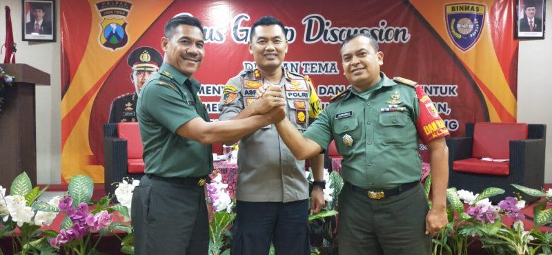 Polres Malang Kota dan Kodim 0833 Didukung Toga Tomas Satukan Tekad Mensukseskan Pemilu