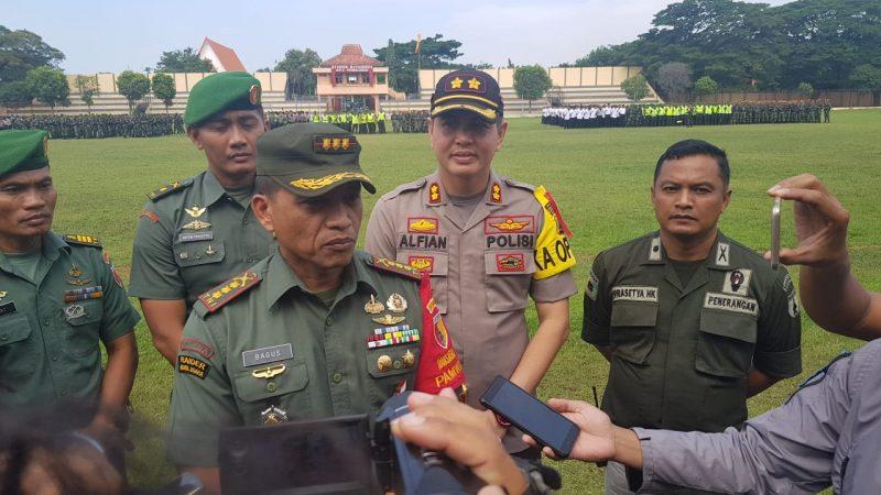 Danrem 083/Baladhika Jaya Pimpin Apel Pengamanan Kunker Presiden RI