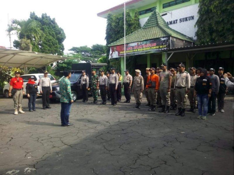 Anggota Koramil 0833/04 Sukun Ikuti Apel Kesiapan Pelepasan Alat Peraga Kampanye Pemilu Tahun 2019