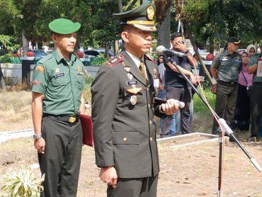 Dandim 0833/Kota Malang Pimpin Upacara Militer Pelepasan dan Pemakaman Jenazah