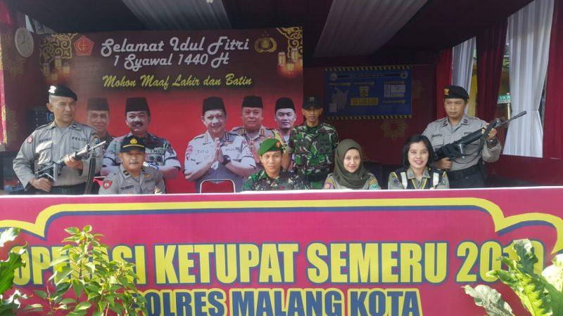TNI-POLRI Bersinergi Mengatur Kota Malang Agar Tetap Kondusif