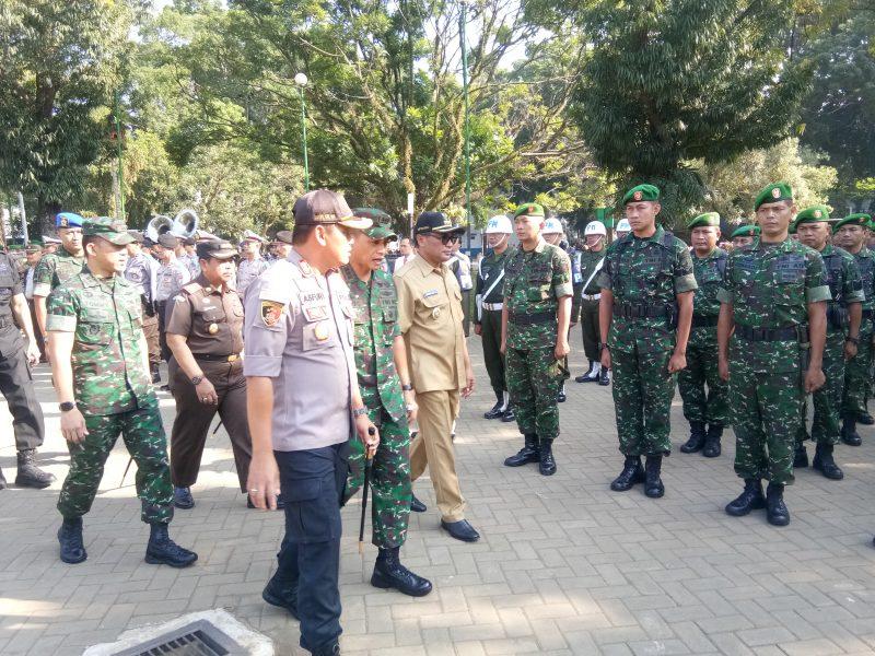 Kodim 0833 Siapkan Bantuan 1 SSK Pasukan Backup Pengamanan Polres Malang Kota
