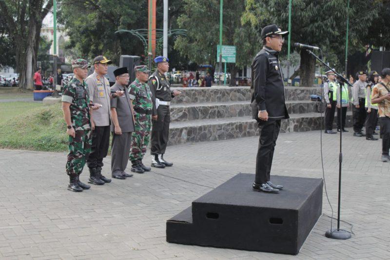 Apel Gelar Pasukan Pengamanan Malang Takbir dan Sholat Idul Fitri 1440 H
