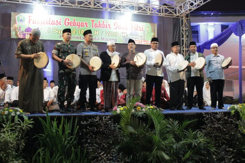 H-1 Lebaran, Kapolres Malang Kota, Walikota serta Dandim 0833 Kota Malang Tinjau Pos Pengamanan