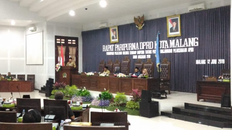 Kasdim 0833 Kota Malang Hadiri Rapat Paripurna DPRD Kota Malang