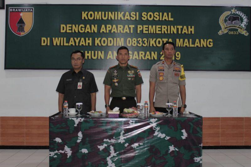 Kodim 0833 Menggelar Komunikasi Sosial Bersama Aparat Pemerintah Kota Malang