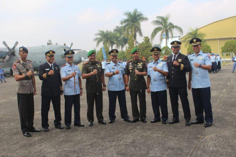 Dandim 0833 Hadiri Serah Terima Jabatan Komandan Skuadron 32 Lanud Abd Saleh
