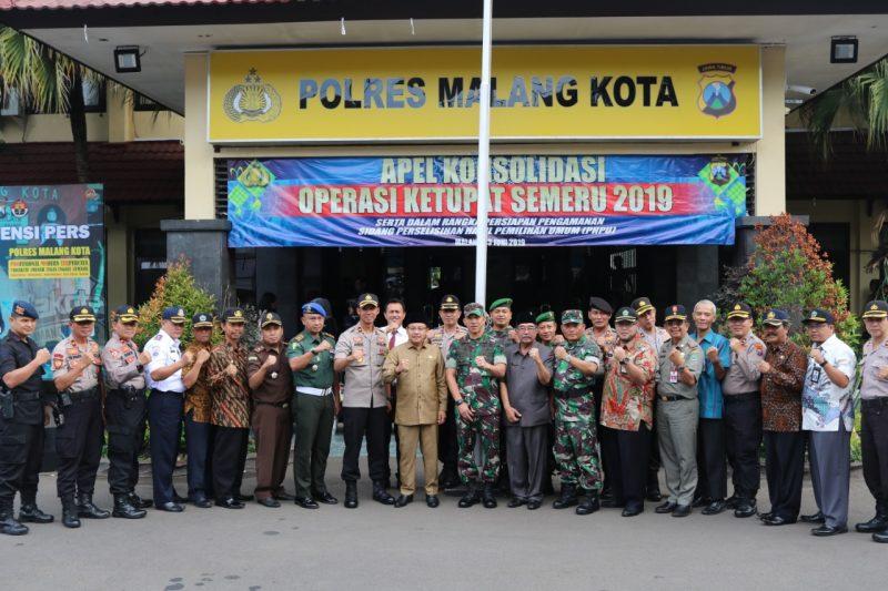 Dandim 0833 Kota Malang Pimpin Apel Konsolidasi Pasca Pelaksanaan Operasi Ketupat Semeru 2019