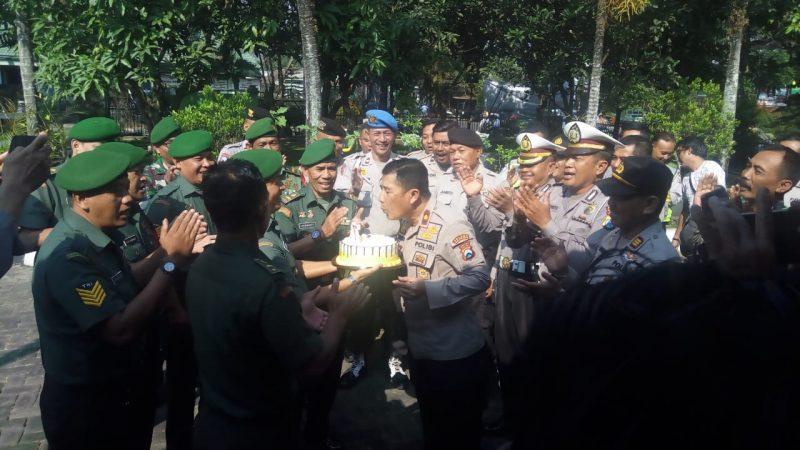 Personil Polsek Klojen Diundang Perayaan HUT Bhayangkara ke 73 di Koramil Klojen