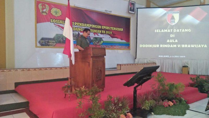 Dandim 0833 Kota Malang Simak Arahan dan Sosialisasi Kabid Tanaman Pangan TNI AD