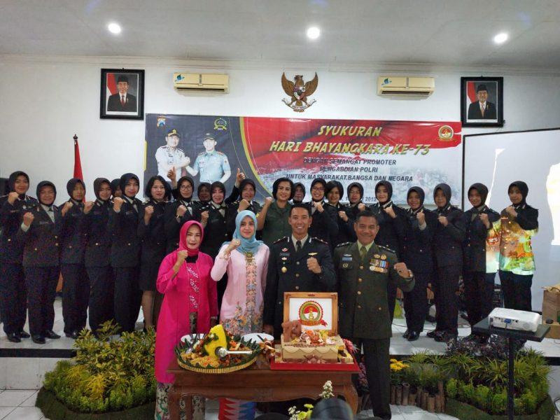 Bahagianya Tasyakuran Hari Bhayangkara 73 Di Kodim 0833/Kota Malang