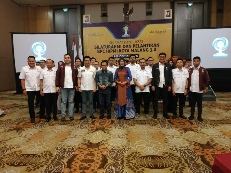 Danramil 0833/03 Blimbing Hadiri Silaturahmi dan Pelantikan BPC HIPMI Kota Malang