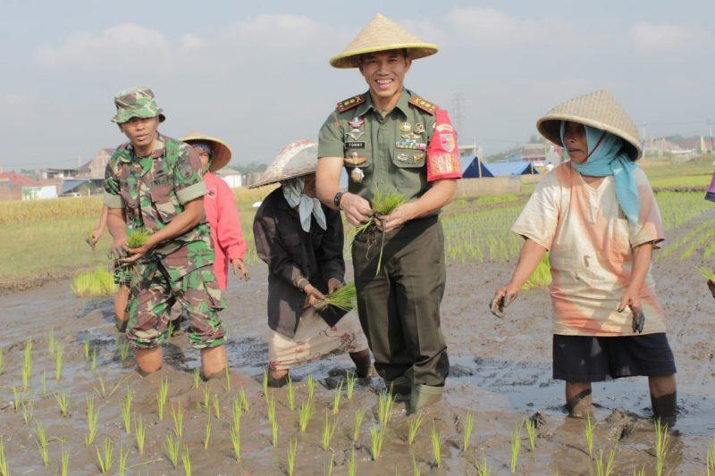 Dandim 0833/Kota Malang Kunjungi Pendampingan Upsus Ketahanan Pangan Koramil 0833/04 Sukun