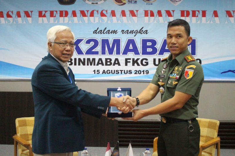 Dandim 0833 menjadi Narasumber Wasbang dan Bela Negara kepada Mahasiswa Baru (Maba) Fakultas Kedokteran Gigi Universitas Brawijaya Malang