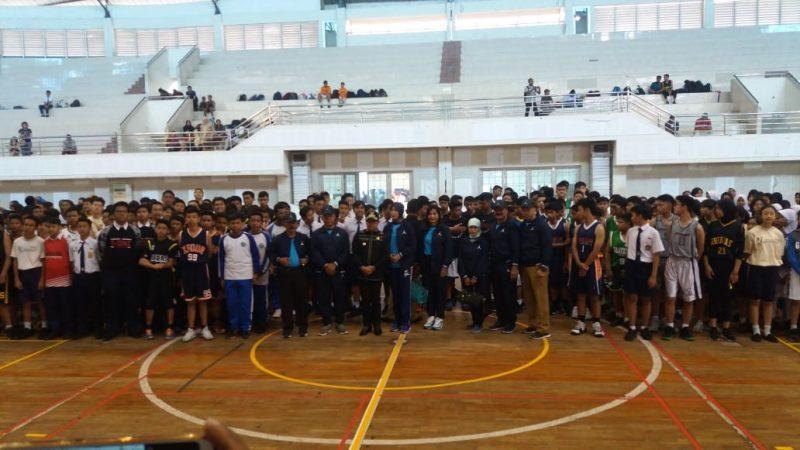 Pembukaan Kejuaraan Bola basket Antar Pelajar SMP/MTs se-Kota Malang