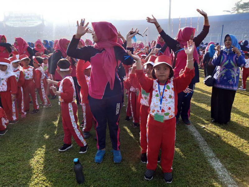 Ribuan Anak TK se- Kabupaten Malang Memperingati Hari Anak Nasional