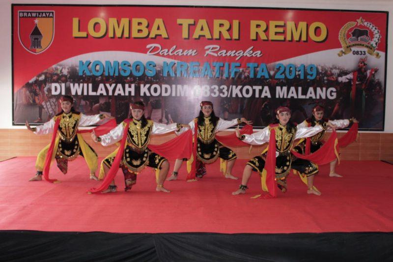 Lomba Tari Remo Dalam Rangka Komsos Kreatif TA. 2019 di Wilayah Kodim 0833/Kota Malang