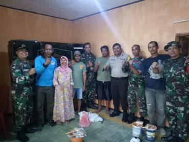 Kodim 0833 Gelar Karya Bhakti Pengecatan Rumah Kaum Dhuafa