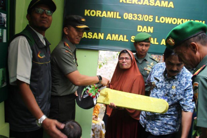 Peresmian dan Penyerahan Kunci Bedah Rumah Bersama Dandim 0833/Kota Malang