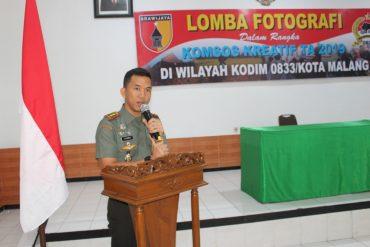 Dandim 0833 Membuka Lomba Fotografi Komsos Kreatif di wilayah Kodim 0833