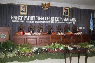 Dandim 0833 Hadiri Rapat Paripurna Dan Pengucapan Sumpah Janji Anggota DPRD Kota Malang Periode 2019-2024