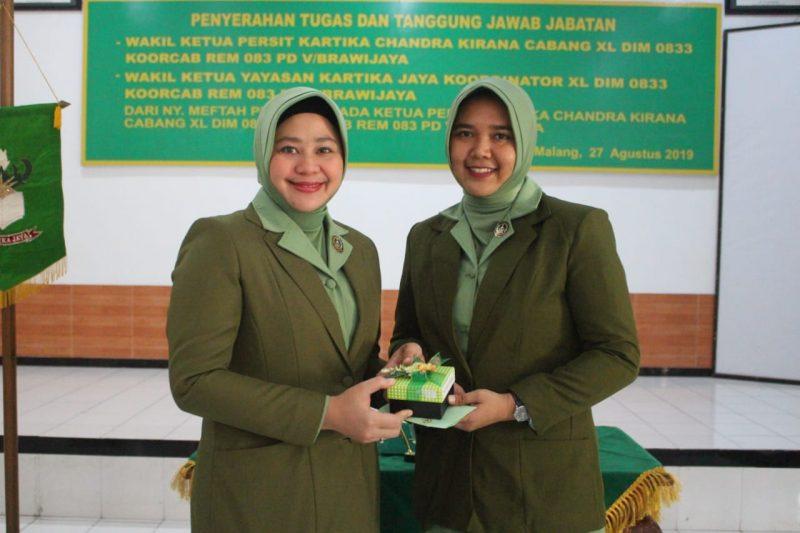 Dalia Pimpin sertijab Wakil Ketua Persit KCK Cab. XL Dim 0833 Koorcab Rem 083 PD V/Brawijaya