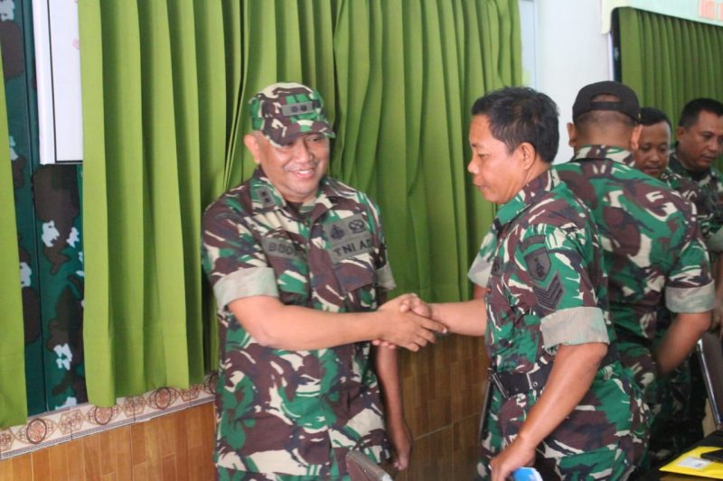 Tim Wasev Pembinaan Tata Ruang Wilayah Pertahanan Darat Kodam V/Brawijaya Kunjungi Kodim 0833