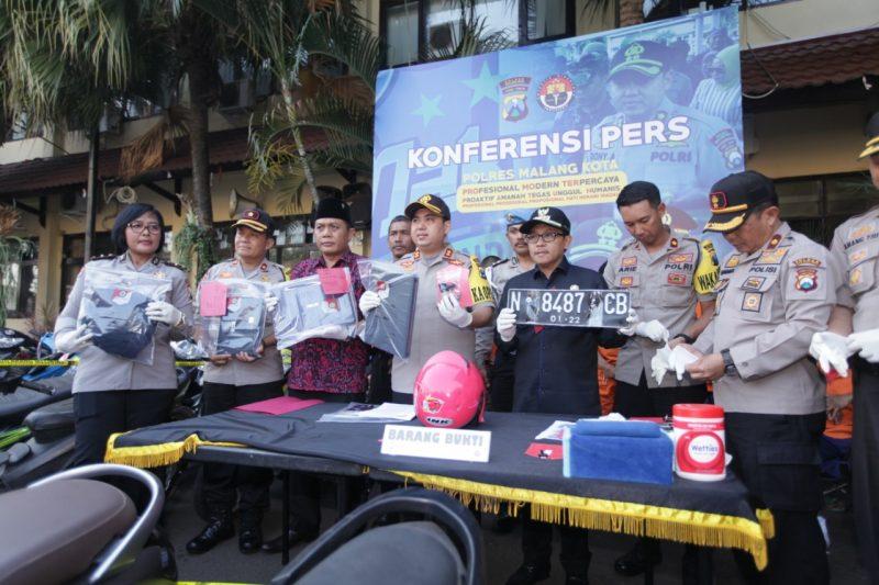 Walikota Sutiaji Dukung Polres Malang Kota Berantas Curanmor