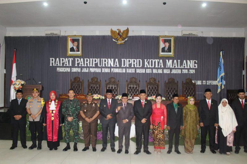 Dandim 0833 Titipkan Harapan Pada Pengambilan Sumpah Janji Anggota DPRD Kota Malang Periode 2019-2024