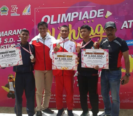 Siswa SMPN 1 Tirtoyudo Menyabet Emas dalam Atletik Trilomba dalam O2SN Nasional