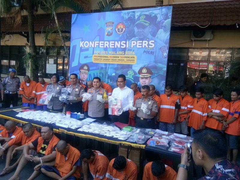 Kapolres Malang Kota Geram, Napi Didalam Lapas Madiun Jadi Penggerak Narkoba
