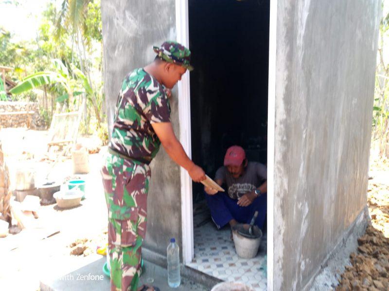 Satgas TMMD Bangun Fasilitas MCK di Kampung Kedungsalam