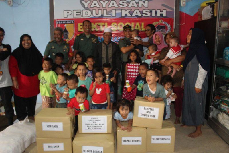 Dandim 0833/Kota Malang Baksos ke Yayasan Peduli Kasih dalam rangka HUT TNI ke-74 Tahun 2019