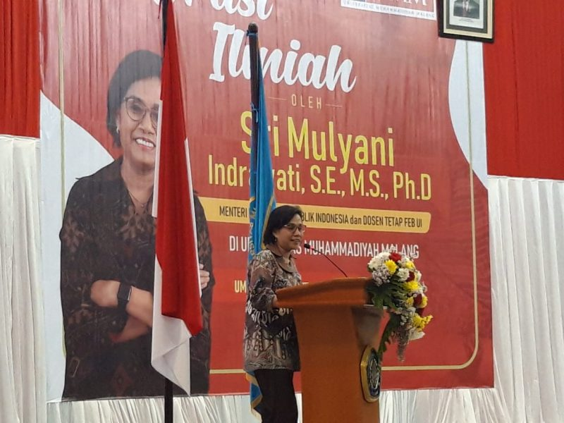 Menteri Keuangan RI Minta Ribuan Mahasiswa UMM Persiapkan Diri
