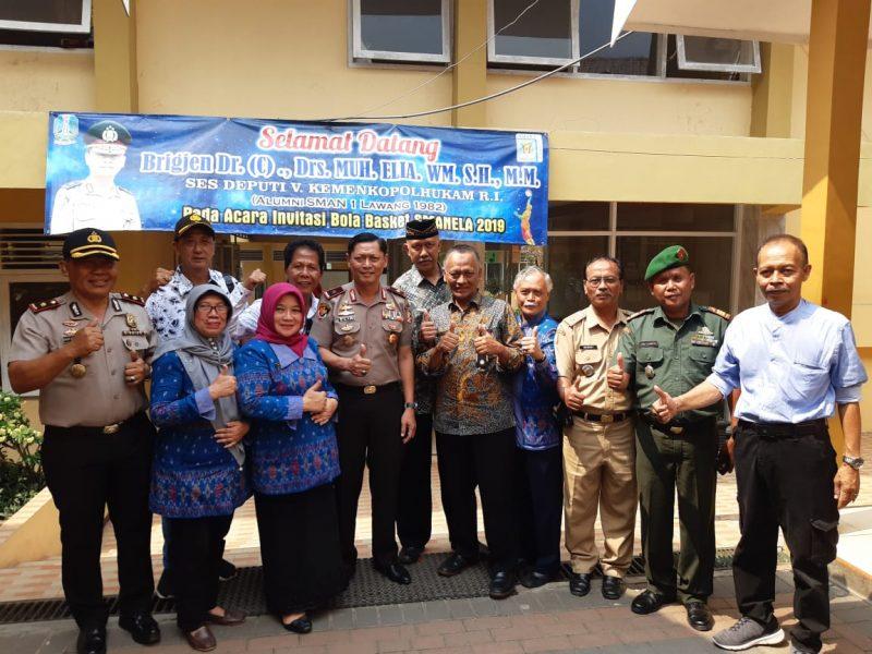 Deputi V Kemenkopolhukam RI Buka Invitasi Bola Basket SMAN 1 Lawang se Jawa Timur