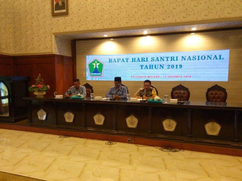 Rapat koordinasi Hari santri Tahun 2019 di Kota Malang